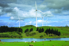 Meridian's Te Apiti Wind Farm on the Tararua Ranges.