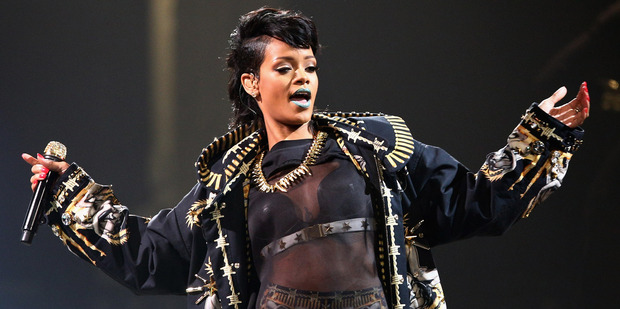 Rihanna performing at Allphones Arena in Sydney on Oct 3. Photo / Getty Images
