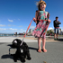 Jamie-Lee Hayson, 6, and her puppy Georgi. Photo / George Novak
