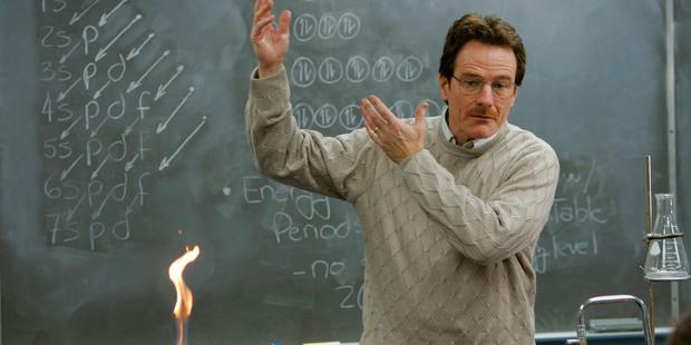 Bryan Cranston as meth cook Walter White in TV hit Breaking Bad. Photo / AP