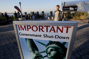 The Statue of Liberty was among government-owned tourist attractions closed this week.  Photo / AP