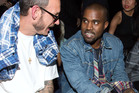 Kanye West, pictured here at the Alexander Wang show with photographer Terry Richardson (left), is a blow-hard, but his vulnerability is authentic. Photo / Dario Cantatore/Invision/AP