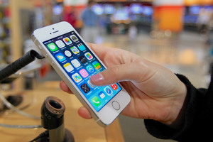 Data sent from smartphones could help in earthquake rescues. Photo / AP