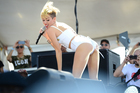 Miley Cyrus performs at IHeartRadio Music Village in Las Vegas. Photo / AP