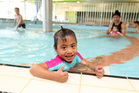 Shakira Vaka, 4, enjoys the children's area of the pool at the Manurewa Pool and Leisure Centre. Photo / Chris Gorman