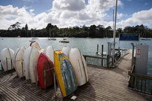 Herald Island is the sort of place where Aucklanders used to have holiday baches. Photo / Greg Bowker