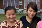 Htoolar Wah Shwe, pictured with her mother Mga, felt unsafe. Photo / Brett Phibbs