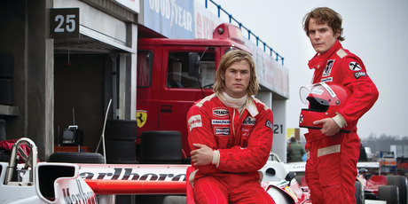 Niki Lauda was impressed with how well Chris Hemsworth (left) and Daniel Bruhl impersonated James hunt and himself in Rush.