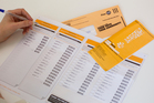 Auckland Super City election voting papers. Photo / Sarah Ivey