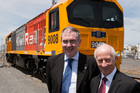 KiwiRail Chief Executive Jim Quinn and Chairman John Spencer.