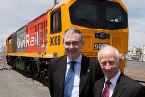 KiwiRail Chief Executive Jim Quinn and Chairman John Spencer.