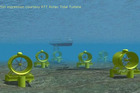 One of the designs for seafloor marine turbines in the Kaipara Harbour.
