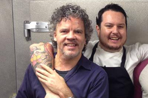 Auckland-born chef Matt Lambert (above right), pictured with Kiwi culinary icon Peter Gordon.