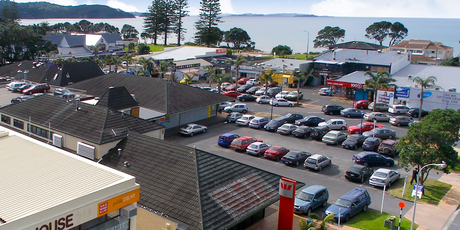 The Westpac Plaza building is close to the beach and seafront.