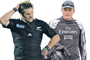 Richie McCaw and Dean Barker.
