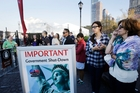 The US shutdown has closed tourist attractions such as the Statue of Liberty. Picture / AP
