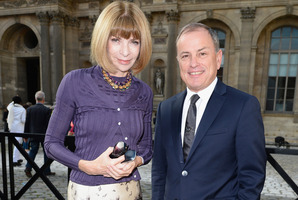 Anna Wintour and Michael Burke attend the Louis Vuitton show.Photo / AFP