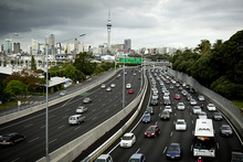 Rush hour traffic heads out of Auckland City towards the North Shore. Photo / Dean Purcell