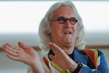 Billy Connolly jokes at the 60th San Sebastian Film Festival in Spain. Photo / AP