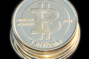 A physical version of the popular online 'bitcoin' virtual currency. The currency was used by people trading goods and services on the anonymous Silk Rd website, which has been shut down by the FBI. Photo / Wikimedia Commons