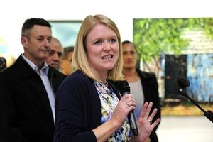 NEW ERA: Natalie Bridges, Cargo Shed patron, and Stuart Crosby, the mayor, opened the revamped arts centre last night.