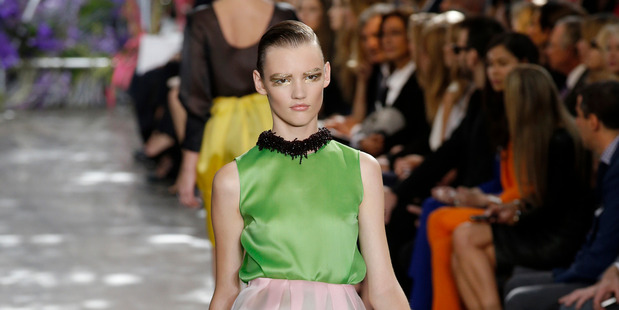 Christian Dior's ready-to-wear Spring/Summer 2014 at Paris Fashion Week.