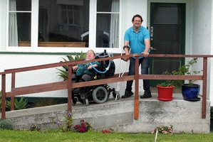 Felicity and Julian Emmett, who both have disabilities, say they will fight a proposal that removes the requirement for building owners to include disabled access. PHOTO/STUART MUNRO 031013WCSMWHEELCHAIR1