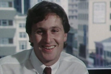 John Key as a 25-year-old foreign exchange dealer.