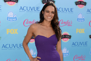 Michelle Rodriguez at the Teen Choice awards. Photo / AP