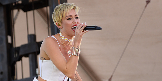 Miley Cyrus performs at an iHeartRadio showcase. Photo / AP