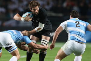 Sam Whitelock had a strong outing against Argentina. Photo / Getty Images