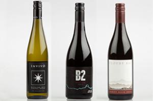 Invivo Central Otago Riesling 2012, Brennan B2 Central Otago Pinot Noir 2011 and Cloudy Bay Marlborough Pinot Noir 2011.
