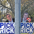 Rick Curach with one of his campaign signs. Photo/Andrew Warner