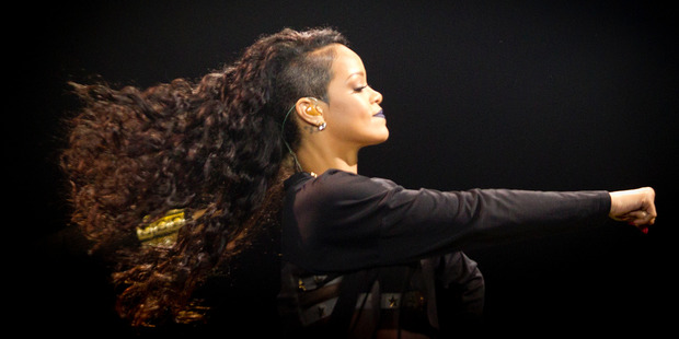 Rihanna performs at Vector Arena in Auckland. Photo / Sarah Ivey