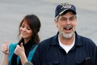 Captain Phillips with his daughter Mariah after being freed. Photo / AP