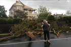 Storm damage in Devonport today. Photo / Brett Phibbs