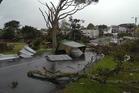 Tornado damage in Devonport. Photo / Richard Moore