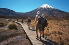 The Tongariro Crossing offers great mountain views.