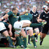 Fourie du Preez of South Africa kicks the ball upfield during the Rugby Championship. Photo / Getty Images