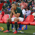 Bryan Habana looks dejected as he sits on the bench after being injured during the Rugby Championship. Photo / Getty Images