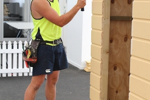 HARD AT WORK: William Harkness, winner of Registered Master Builders Carters 2013 Apprentice of the Year and of more than $20,000 in prizes. PHOTO/SUPPLIED