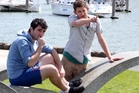 Gareth Mauchline, right, directed an award-winning film about Trent Reyburn. Photo / John Stone
