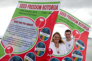 Denise La Grouw and Alan Solomon have organised a family-friendly event to educate. Photo / Stephen Parker