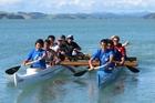The boys of Kaihoe o Ngati Rehia waka ama club in training ahead of last year's marathon paddle. Photo / FIle