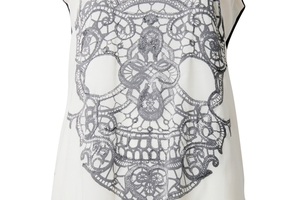 Skull knit back top, $99, Max.