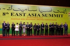 John Key, second from left, with leaders at the East Asia Summit in Bandar Seri Begawan, Brunei. Photo / AP