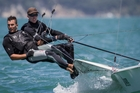 After success in the youth competition, Blair Tuke (left) and Peter Burling make no secret of their desire to race in the America's Cup proper. Photo / Gareth Cooke