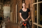 Kate Ross, who will represent the Auckland region at the Apprentice of the Year contest on Friday, loves her building renovation work. Photo / Ted Baghurst