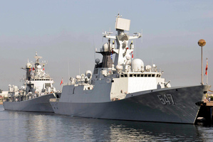 A file photo of a Chinese navy guided-missile destroyer. Photo / AP