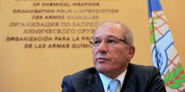 Loading Ahmet Uzumcu, director general of the Organization for the Prohibition of Chemical Weapons. Photo / AP